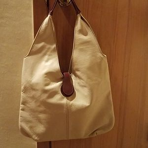 Handbags - Large leather bone hobo bag